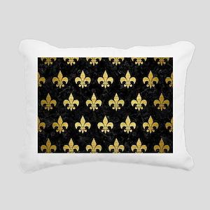ROYAL1 BLACK MARBLE & GO Rectangular Canvas Pillow