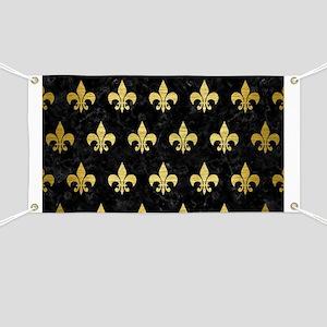 ROYAL1 BLACK MARBLE & GOLD BRUSHED METAL (R Banner