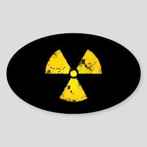 Eroded Radiation Symbol Sticker
