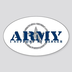 Army - I Support My Ranger Oval Sticker