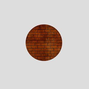 BRICK1 BLACK MARBLE & BROWN BURL WOOD Mini Button