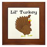 Lil' Turkey Framed Tile