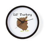 Lil' Turkey Wall Clock