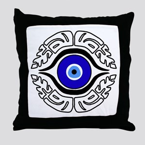 EVIL EYE_HAMASA Throw Pillow