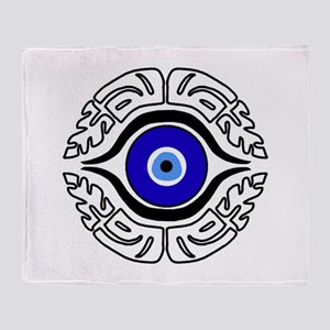 EVIL EYE_HAMASA Throw Blanket