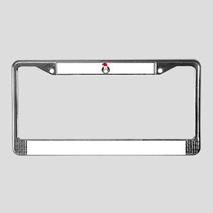 Santa Hat Penguin License Plate Frame