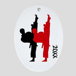 Karate TKD Oval Ornament
