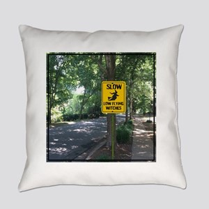 SLOW Low Flying Witches Everyday Pillow
