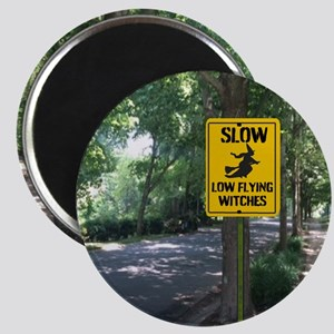 SLOW Low Flying Witches Magnets