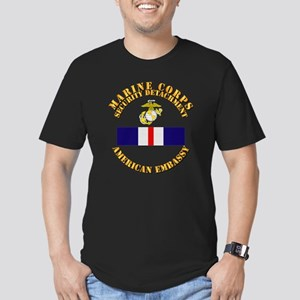 USMC Security Det - AM Men's Fitted T-Shirt (dark)