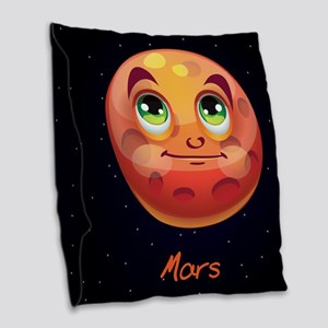 Cartoon Mars Burlap Throw Pillow