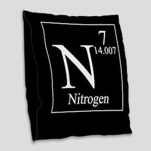 Nitrogen Burlap Throw Pillow