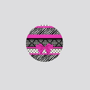 Safari: Hot Pink Mini Button
