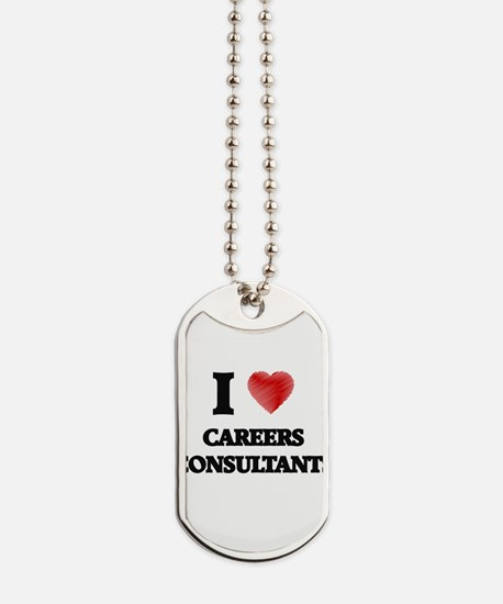 I love Careers Consultants Dog Tags