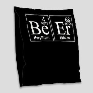 Beryllium Erbium Beer Burlap Throw Pillow