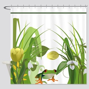 Toad in the Garden Shower Curtain