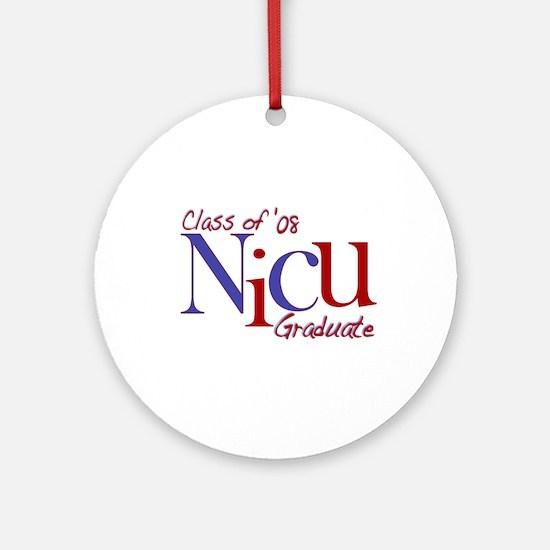 NICU Graduate 08 Boys Ornament (Round)