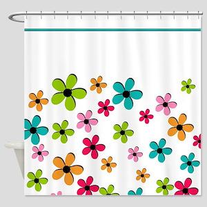 Pop Art Flowers Shower Curtain