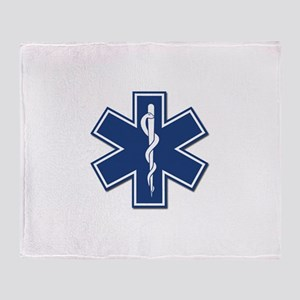 EMS EMT Rescue Logo Throw Blanket
