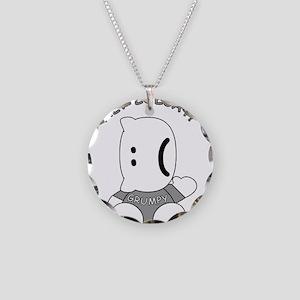 HeyLOLcatGrumpy Necklace Circle Charm