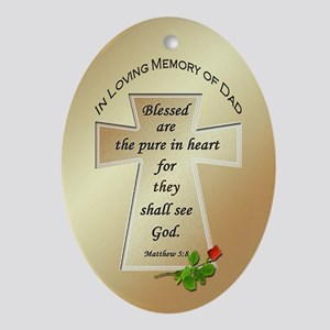 In Loving Memory of Dad Oval Ornament