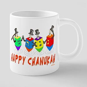 Happy Hanukkah Dancing Dreidels Mugs
