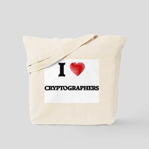 I love Cryptographers Tote Bag