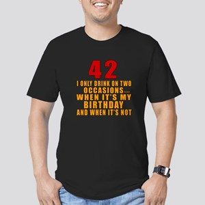 42 birthday Designs Men's Fitted T-Shirt (dark)