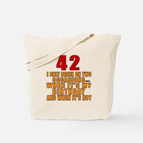 42 birthday Designs Tote Bag
