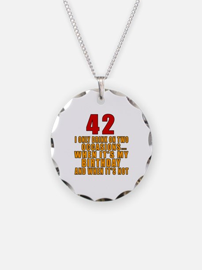 42 birthday Designs Necklace