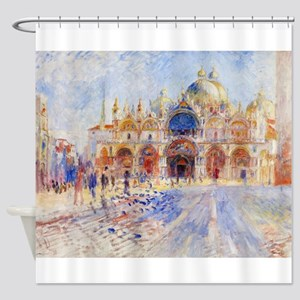 The Piazza San Marco by Pierre Augu Shower Curtain
