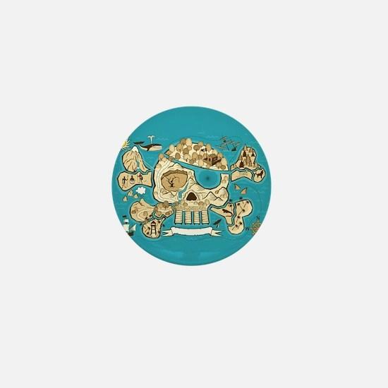 Treasure Map Mini Button