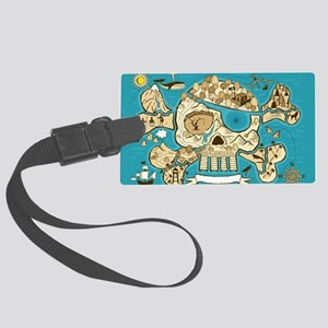 Treasure Map Luggage Tag