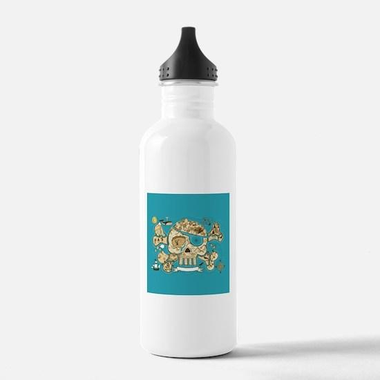 Treasure Map Water Bottle