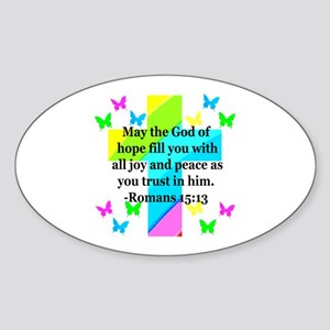 HEBREWS 15:13 Sticker (Oval)
