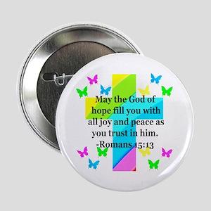 """HEBREWS 15:13 2.25"""" Button"""
