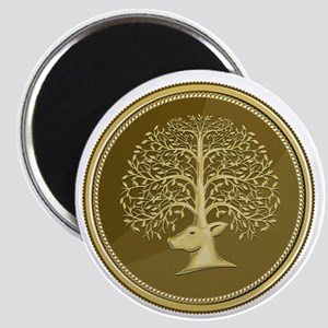 Deer Head Tree Antler Gold Coin Retro Magnets