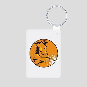 Dingo Dog Welding Circle Retro Keychains
