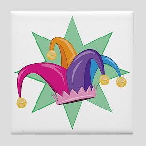 Jester Hat Tile Coaster
