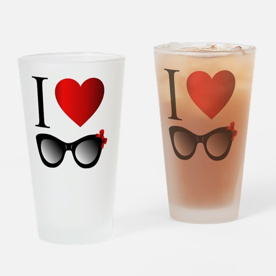 Cool Red sun Drinking Glass