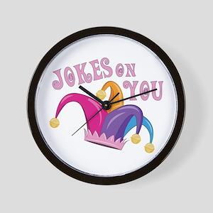 Jokes On You Wall Clock