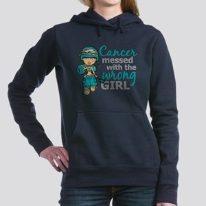 Combat Girl Ovarian Cancer Sweatshirt