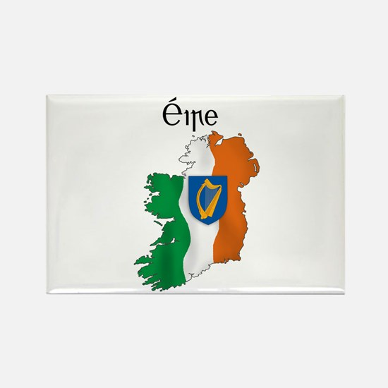 Ireland flag map Rectangle Magnet (100 pack)