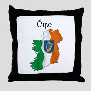 Ireland flag map Throw Pillow