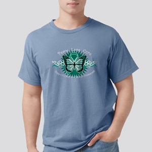 Ovarian Cancer Butterfly Women's Dark T-Shirt
