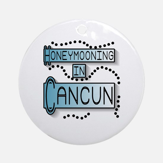 Blue Honeymoon Cancun Ornament (Round)