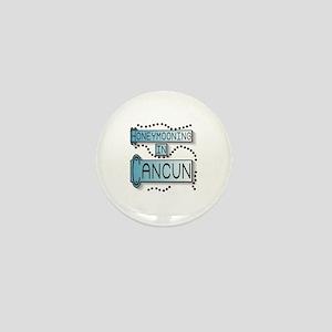 Blue Honeymoon Cancun Mini Button