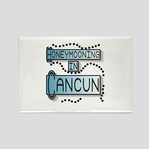 Blue Honeymoon Cancun Rectangle Magnet