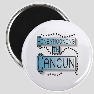 Blue Honeymoon Cancun Magnet
