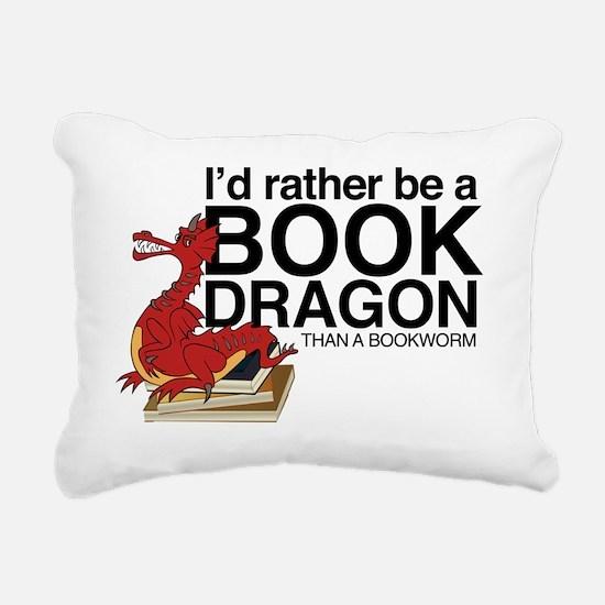 Cute Reading books Rectangular Canvas Pillow